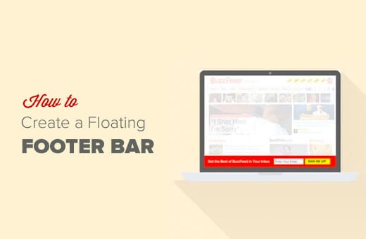 Sticky Floating Footer Bar