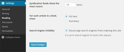 search-engine-visibility-settings