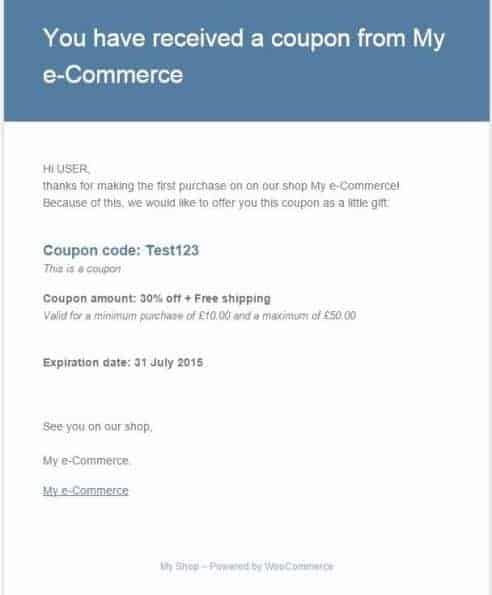 COUPON EMAIL SYSTEM