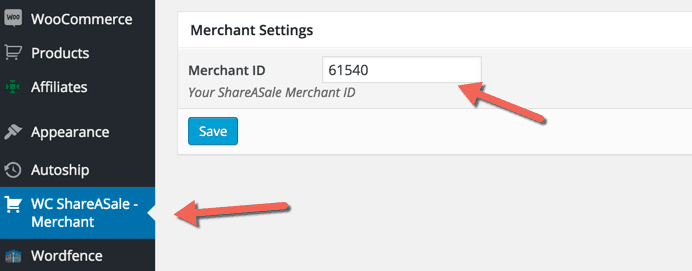 Shareasale Merchant ID