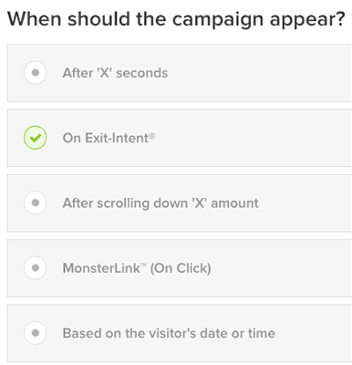 when should the campaign appear