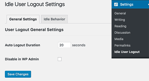 Idle-User-Logout-Settings