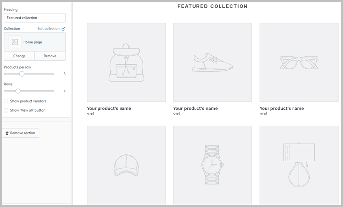 feature collection shopify