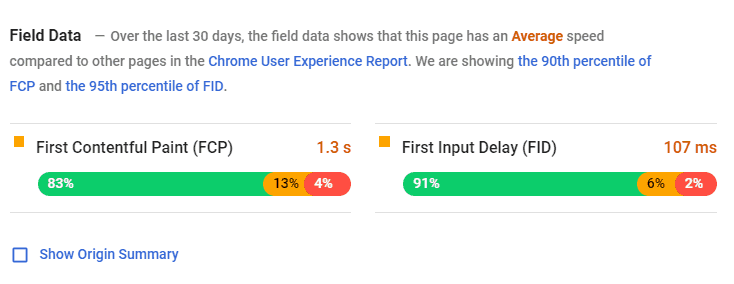 Google-PageSpeed-Insight-Field-Data
